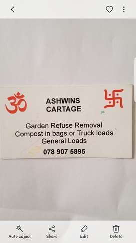 Garden refuse removal and general cartage