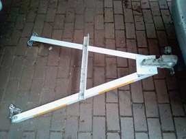 A-frame for towing cars without second driver. Foldable. Brand new.