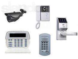 Установка видеодомофонов,контроля доступа,видеонаблюдения,сигнализации
