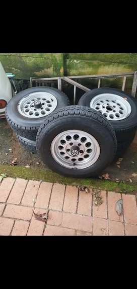 VW T3 kombi 14 inch rims and new tires