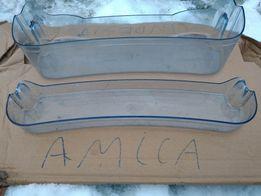 Balkonik na drzwi półka butelki napoje pojemnik lodówka szuflada amica
