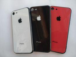 Стеклянный чехол iPhone 6,S,7,8,X,Plus Apple silicone case на Айфон