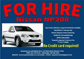 Nissan NP200 for Hire