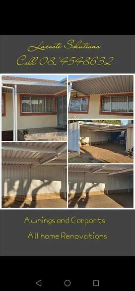 Awnings and Carports, home renovations