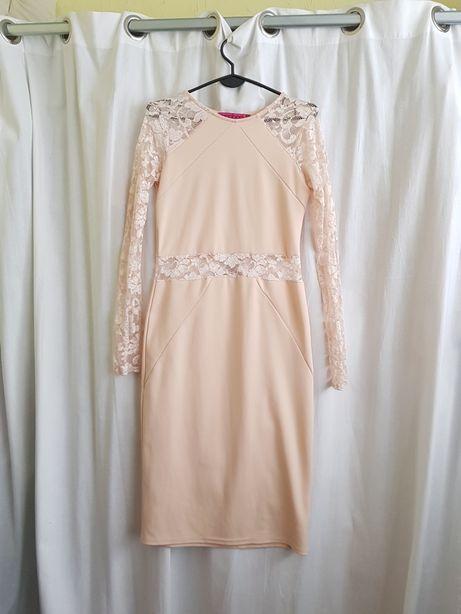 Sukienka ecru midi ,koronka Boohoo Oświęcim - image 4