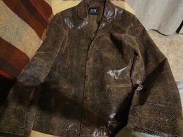 Кожаная натуральная женская куртка-пиджак производство Германия