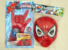 Spiderman RĘKAWICA + WYRZUTNIA + Maska podświetlana /launcher/ 24H