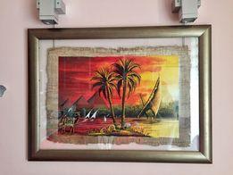 Картина в рамі Папірус Пейзаж Єгипет Подарунок Папирус Подарок
