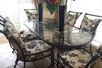 Image of Iron and glass dining set