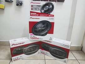 Pioneer speakers for sale, 280w, 1300w, 1400w, 6 by 9s