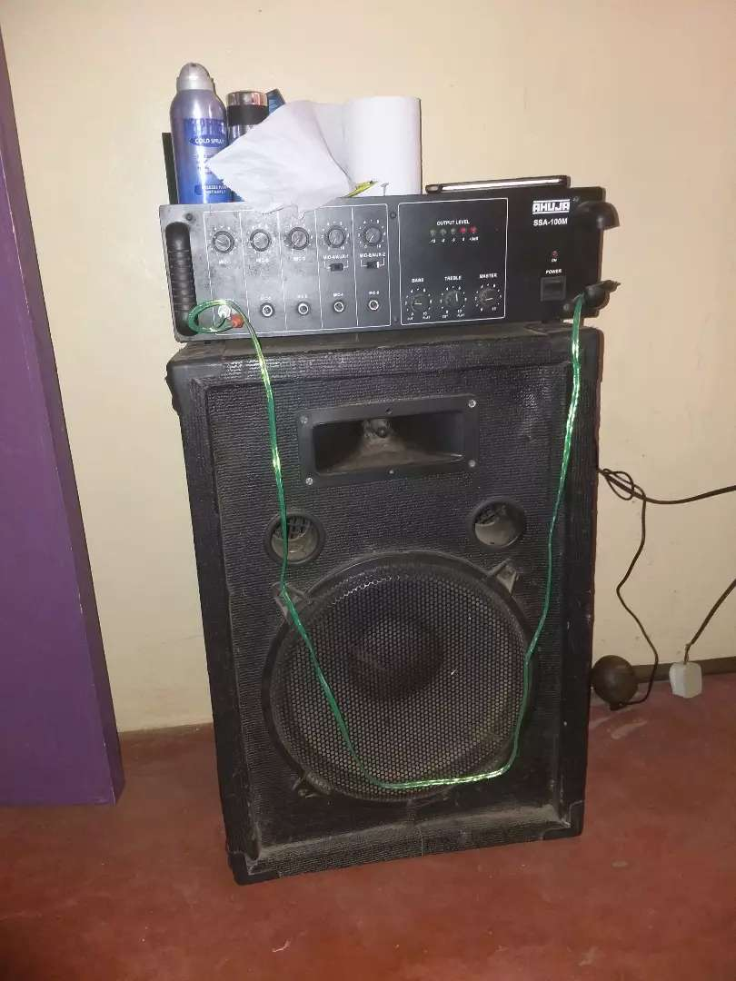 Ahuja amplifier and a big speaker!! 0