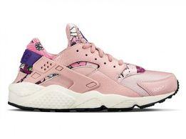 женские кроссовки Найки хуараче nike huarache розовые+рисунок