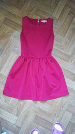 Красное платье солнце-клеш