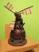 Wiatrak szkatułka Veronese steampunk figurka WU76810A4