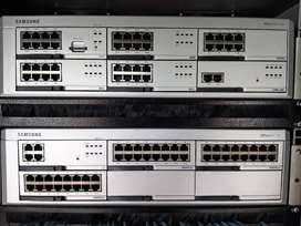 2 x Samsung OfficeServ 7200 VoIP PABX in cabinet