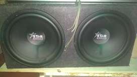 "Star sound 2×15"" subwoofers and bass box"
