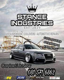 Air  & Coilovers Kits Available For Most Vehicles