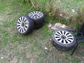 """17"""" alloys 8 holes fit golf and Toyotas"""
