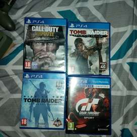 Play Station 4 with 1 controller and 4 games