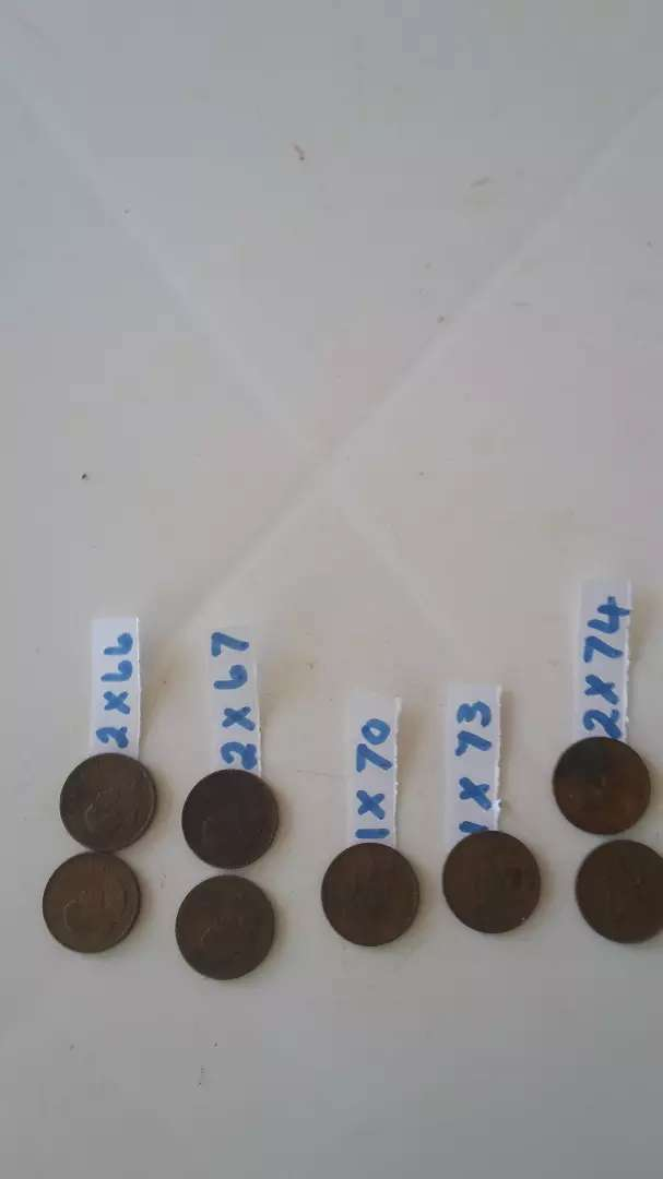 SOUTH AFRICAN OLD 1c COIN COLLECTION. 0