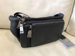 Поясная сумка Бананка Кожаная сумка на пояс Барсетка натуральная кожа