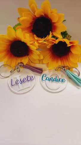 Personalized perspex key rings