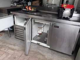 fridge and gas flat top grill combo