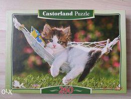 Puzzle z kotkiem