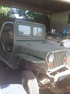 Willys jeep with toyota diesel motor