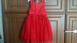H&M нарядное красное платье