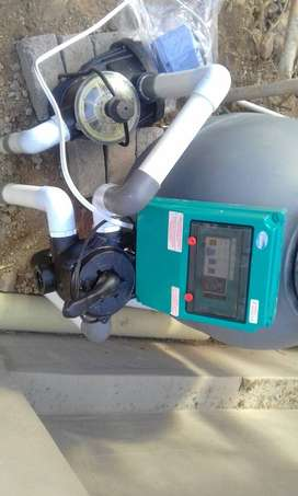 Pool pump and filter