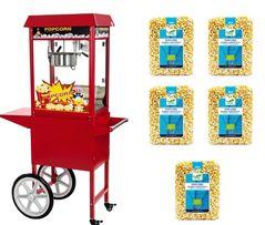 Mobilna Maszyna do Popcornu + 5 KG BIO Popcornu GRATIS