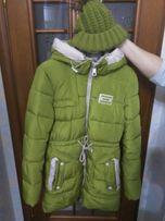 Куртка парка зимняя с шапкой женская