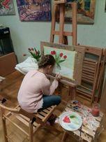 Уроки рисования с детьми в студии.