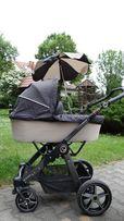 Wózek Hartan Racer GT 3 w 1+adapter, parasolka, folia na deszcz, torba