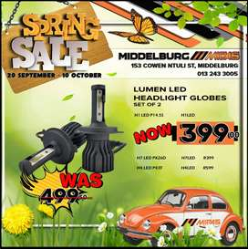 Get Lumen LED Headlight Globes NOW at these amazing LOW prices!