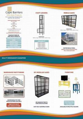 Wire Mesh Partitioning/caging/lockers/Furniture/Gates