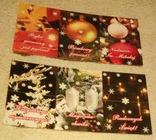 Boże Narodzenie - karnety do świątecznych prezentów- różne 2 wzory