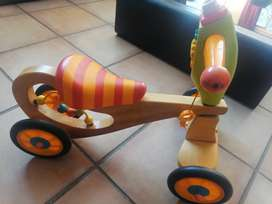 Kids wooden tricycle