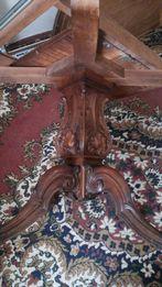 Круглый стол деревянный ручная робота
