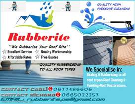 Rubberite - Waterproofing & Rubberising of all roof types