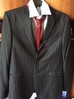 Мужской стильный костюм для высокого молодого человека, размер 50