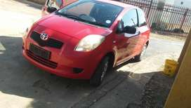 A clean 2008 T1 toyota yaris for sale.