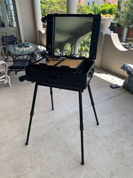 Pre loved Hollywood Make Up Trolley Case with LED light and electrical