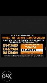 Image of H100 /K2700 bakkie service kit special while stocks last