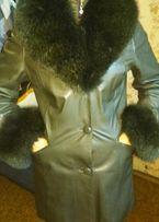 Продам куртку кожаную с мехом