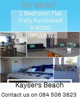 1 BEDROOM FLAT TO RENT Incl. Lights and water