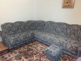 Sprzedam komplet wypoczynkowy - narożnik, dwa fotele, dwie pufy