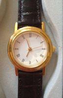 _ _ Nowy - Złoty Damski Zegarek na Skórzanym Pasku - Stylowy Klasyczny