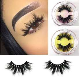 Stunning eye lashes and wigs